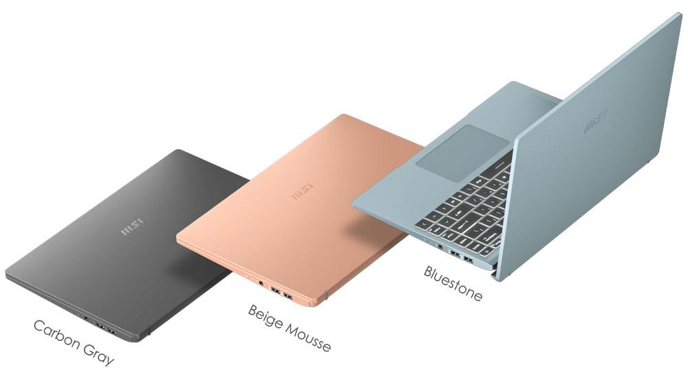 Presentaciones de color de la MSI 14 B11SBU-602XES